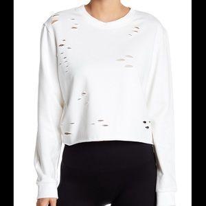 Sam Edelman Distressed cropped Sweater